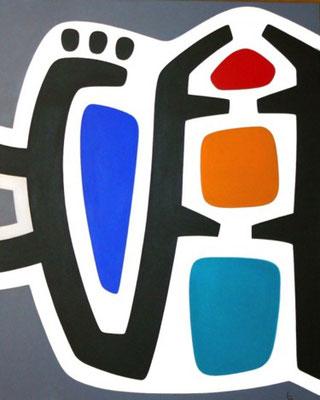 IL FAUT ARRETER DE VOULOIR ARRONDIR  LES ANGLES N°2  acrylique 2018,  89 X 116 cm
