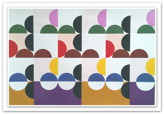Ellen Roß: Quadratur des Kreises n°9, 2015, Vinyl auf Karton, FABIANO 400gr/qm, 50 x 70 cm