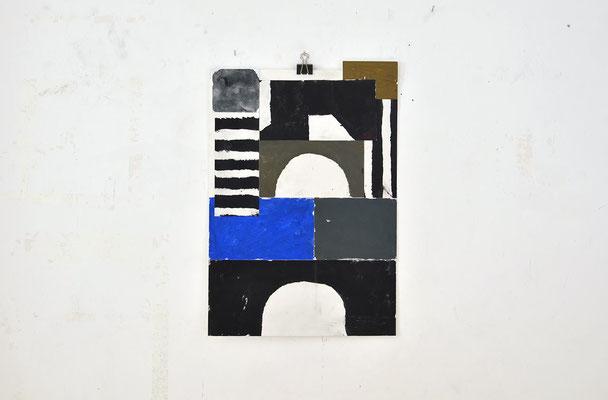 Sasha Pichushkin: Collage_8, 2016 Mischtechnik auf Papier, 30 x 42 cm, Galerie SEHR 2017