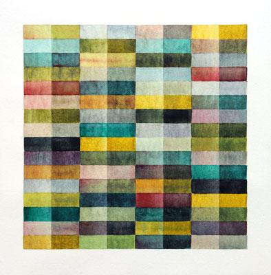 ohne Titel, Aquarell und Bleistift auf Papier, 40 x 40 cm, 2018