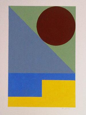 Ellen Roß: o.T._03, 2015, Vinyl auf Karton, 30 x 40 cm