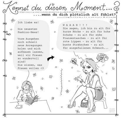 Emmas Alter - Vektorgrafik - Illustrationen Doris Maria Weigl / Menschen