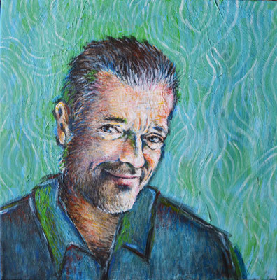 Peter Mario Werner im VanGogh-Stil - Acryl - Illustrationen Doris Maria Weigl / Portrait