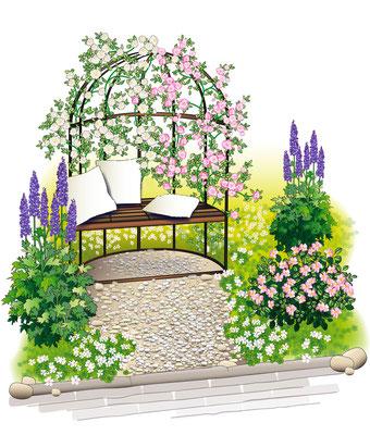 Gartendetail - Vektorgrafik - Illustrationen Doris Maria Weigl / Landschaft