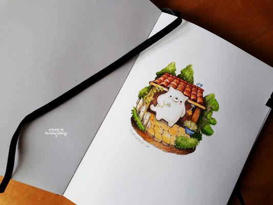 """Illustration - Doris Maria Weigl - Aquarell """"Momo"""""""