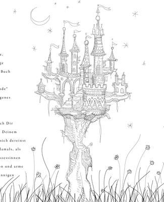 Märchenschloss - Vektorgrafik - Illustrationen Doris Maria Weigl / Kinderbuch