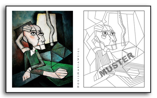 Malbild Freedom - Vektorgrafik - Illustrationen Doris Maria Weigl / Malbuch