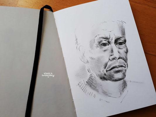"Sketchbook - Illustration - Doris Maria Weigl - ""Portrait"""
