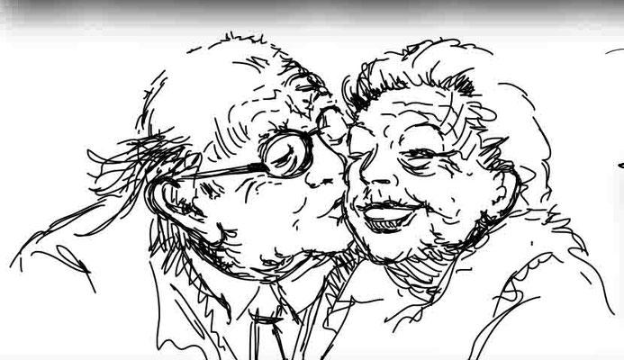 Senioren - Vektorgrafik - Illustrationen Doris Maria Weigl / Menschen