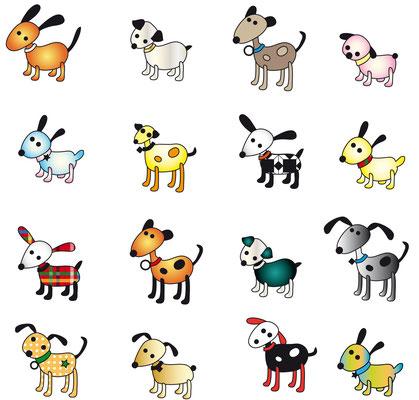 Illustrationen Doris Maria Weigl / Hunde