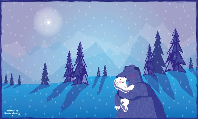 Bärenliebe - Vektorgrafik - Illustrationen Doris Maria Weigl / Kinderbuch