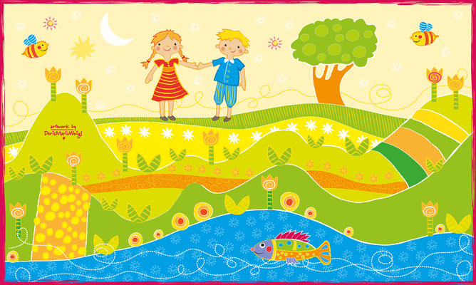 Mimi & Flo - Vektorgrafik - Illustrationen Doris Maria Weigl / Kinderbuch