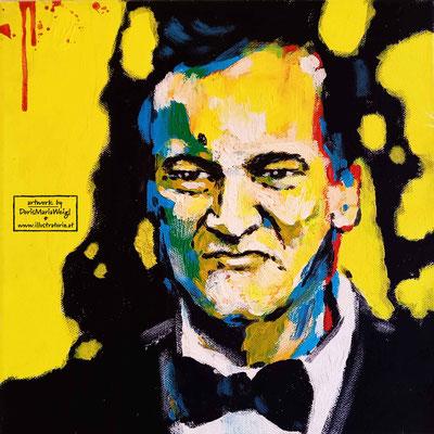 Quentin Jerome Tarantino - Acryl auf Leinen - Doris Maria Weigl - Illustrationen