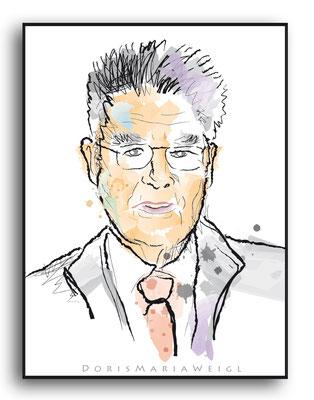 Heinz Fischer - Vektorgrafik - Illustrationen Doris Maria Weigl / Portrait