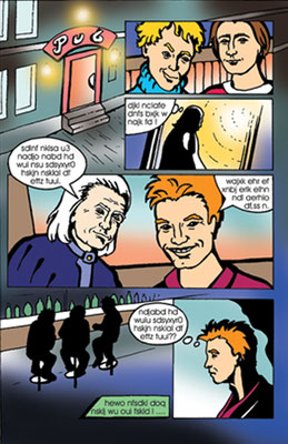 Comicseite - Vektorgrafik- Illustrationen Doris Maria Weigl / Comic