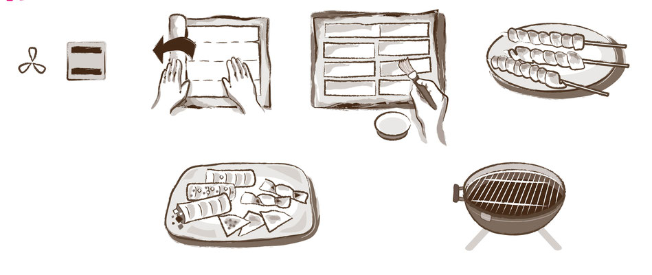 Teig - Vektorgrafik - Illustrationen Doris Maria Weigl / Menü