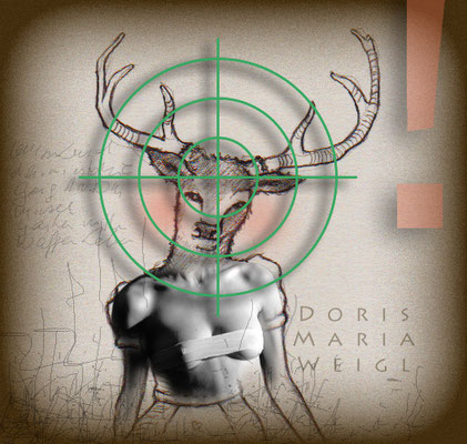Jagd - Foto mit Vektorgrafik - Illustrationen Doris Maria Weigl / Mixed Media