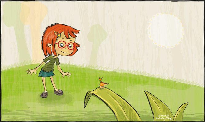 Klara - Vektorgrafik - Illustrationen Doris Maria Weigl / Kinderbuch