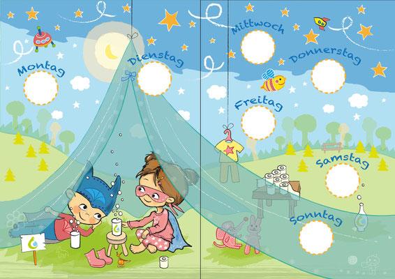 Superhelden 3 - Vektorgrafik - Illustrationen Doris Maria Weigl / Kinderbuch