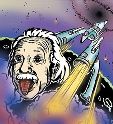 Einstein - Vektorgrafik- Illustrationen Doris Maria Weigl / Comic