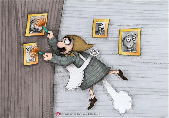 Frau Herbert - Copic-Mix - Illustrationen Doris Maria Weigl / Kinderbuch