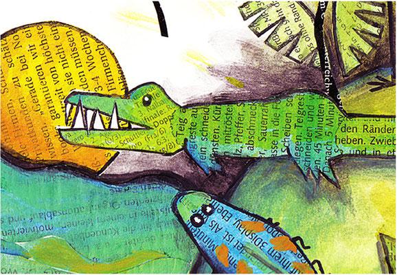 Dschungel - Collage - Illustrationen Doris Maria Weigl / Kinderbuch