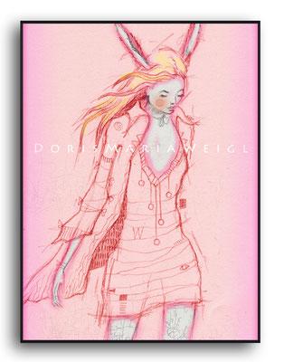rosa Kleid - Vektorgrafik - Illustrationen Doris Maria Weigl / Mixed Media