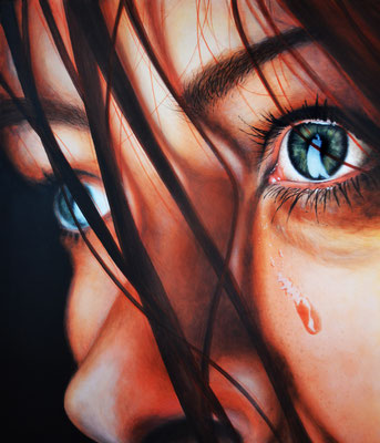Tears - Acryl auf Leinen, 70 x 60 cm - Illustrationen Doris Maria Weigl / Portrait