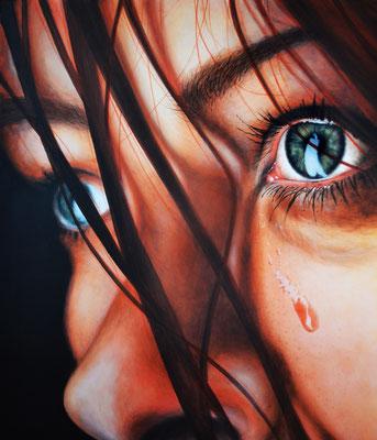 Tears - Acryl auf Leinen, 70 x 60 cm - Illustrationen Doris Maria Weigl / Portrait