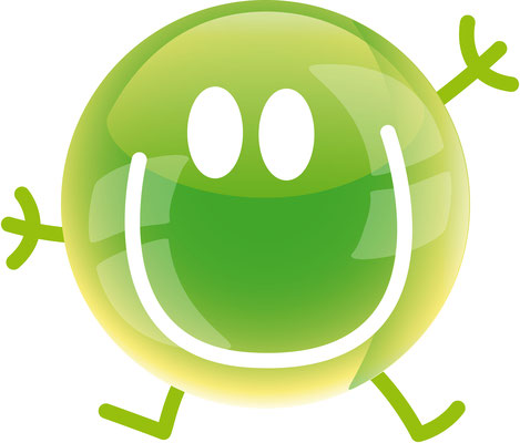 Illustrationen Doris Maria Weigl / Symbole / Smiley grün