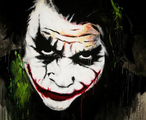 """""""Joker"""" - Acryl und Whiskey auf Leinen - 120x100cm - Doris Maria Weigl / Art"""