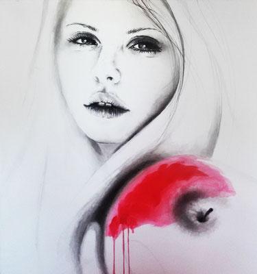 Eva - Acryl - Illustrationen Doris Maria Weigl / Portrait (verkäuflich)