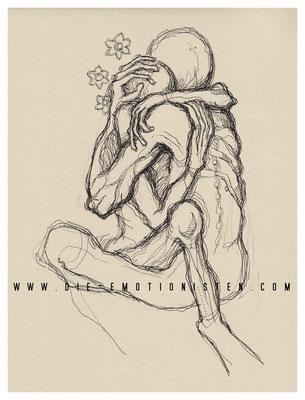 Innig - Tusche - Illustrationen Doris Maria Weigl / Menschen