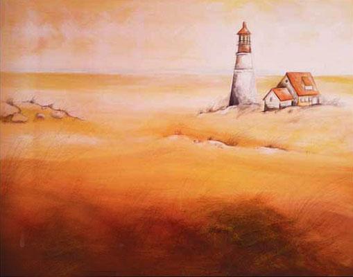 Leuchtturm - Acryl - Illustrationen Doris Maria Weigl / Landschaft