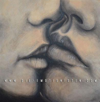 """Kiss"" - Acryl auf Leinen - 40x40cm - Doris Maria Weigl / Art"