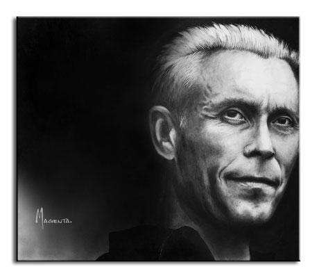 Farin Urlaub - Acryl auf Leinen, 70 x 60 cm - Illustrationen Doris Maria Weigl / Portrait