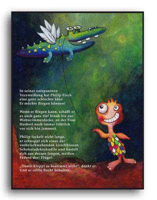 Filip der Erste - Aquarell - Illustrationen Doris Maria Weigl / Kinderbuch