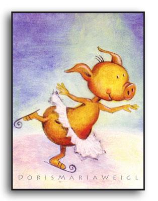 Schweinchen Rosa - Öl - Illustrationen Doris Maria Weigl / Kinderbuch