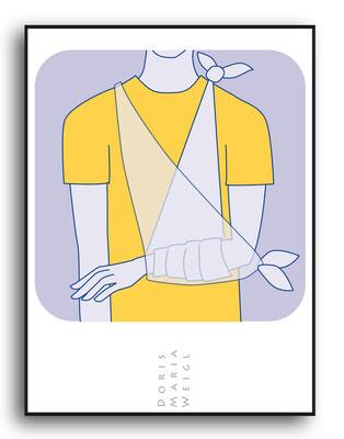 Erste Hilfe - Vektorgrafik - Illustrationen Doris Maria Weigl / Medizin