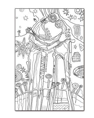 Malkunst Liebende - Malbuch Farbenzeit - Vektorgrafik - Illustrationen Doris Maria Weigl / Malbuch