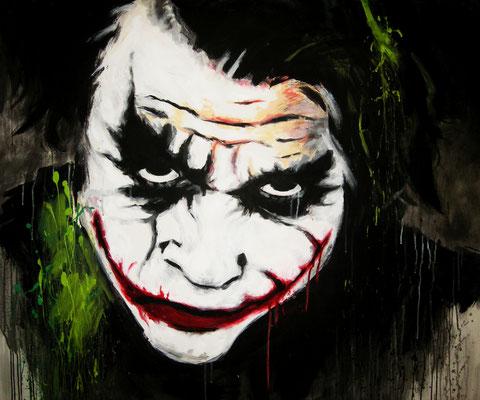 Joker - Acryl auf Leinen, 120 x 100 cm - Illustrationen Doris Maria Weigl / Portrait (verkäuflich)