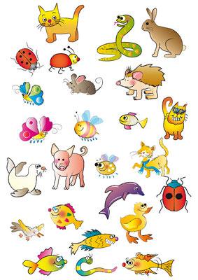 Illustrationen Doris Maria Weigl / Tiere