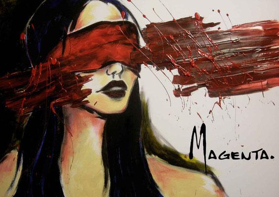 """""""blind"""" - Acryl auf Leinen - Doris Maria Weigl"""