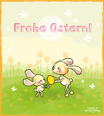 Frohe Ostern! - Vektorgrafik - Illustrationen Doris Maria Weigl / Kinderbuch