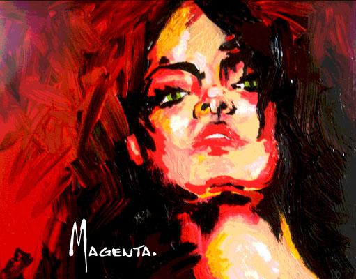 Feuer - Acryl - Illustrationen Doris Maria Weigl / Portrait (verkäuflich)