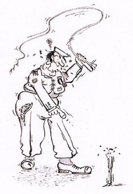 Chef - Vektorgrafik- Illustrationen Doris Maria Weigl / Comic