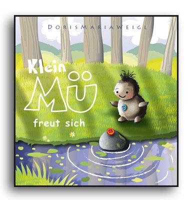 Klein Mü freut sich - Vektorgrafik - Illustrationen Doris Maria Weigl / Kinderbuch