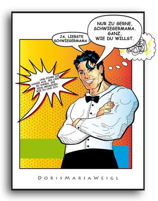 Der Schwiegersohn - Vektorgrafik- Illustrationen Doris Maria Weigl / Comic