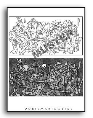 Malbild Allegorie - Vektorgrafik - Illustrationen Doris Maria Weigl / Malbuch