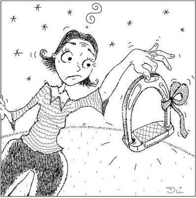 Reiten - Tusche - Illustrationen Doris Maria Weigl / Comic